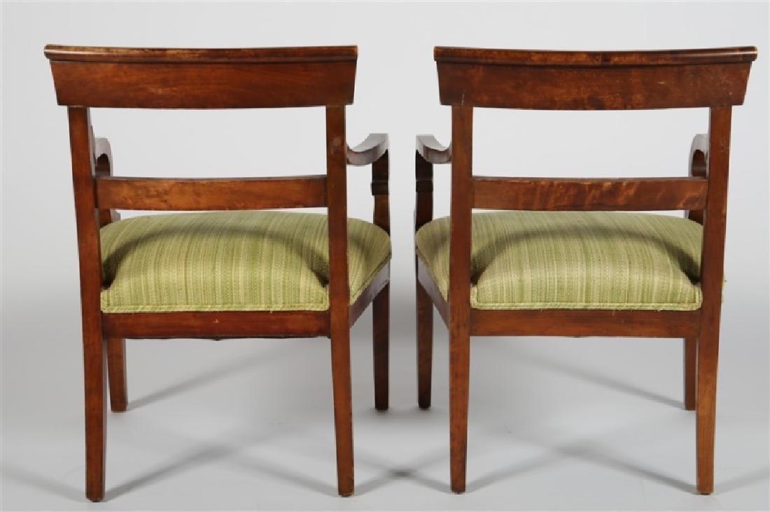 Pair of Biedermeier-style Wooden Chairs - 5