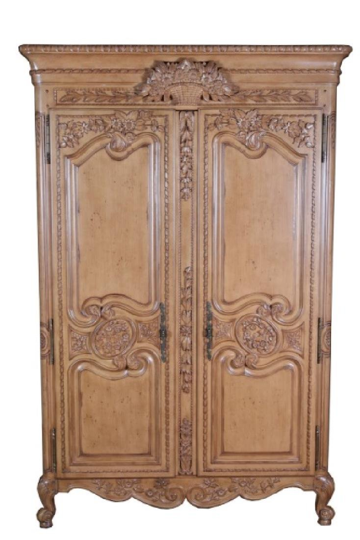 French-Style Wooden Armoire