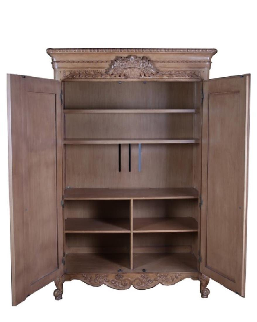 French-Style Wooden Armoire - 2