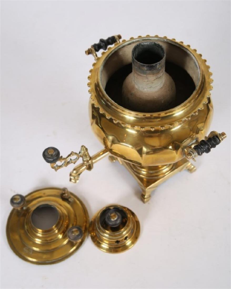 19th Century Russian Brass Samovar - 3