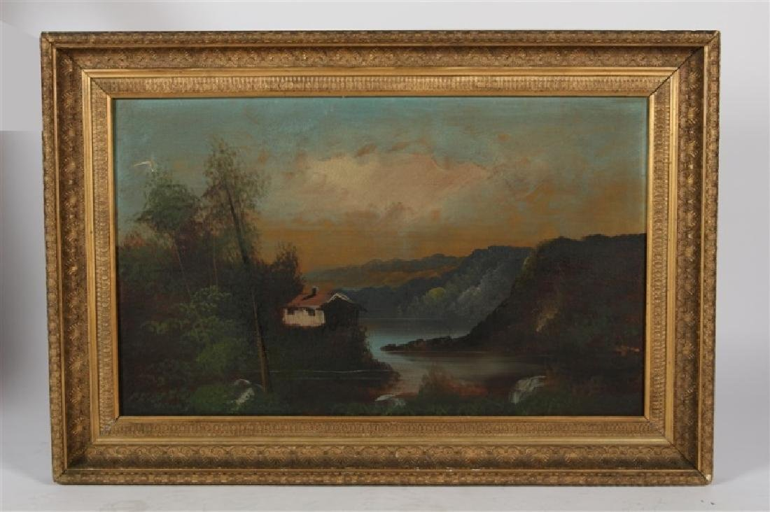 Unsigned Oil on Canvas Landscape