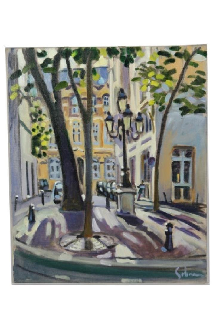 "Greg Sobran (American, b. 1947), ""Paris Square"""