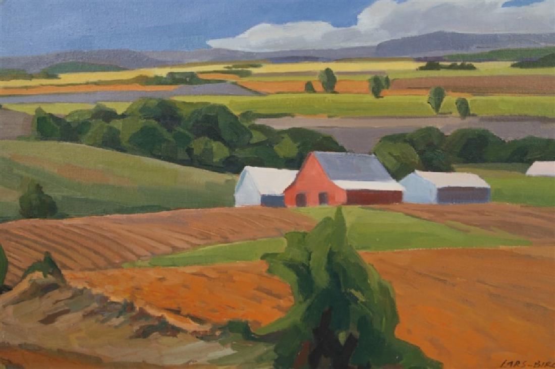 "Lars-Birger Sponberg, ""Farm in Valley"" - 3"