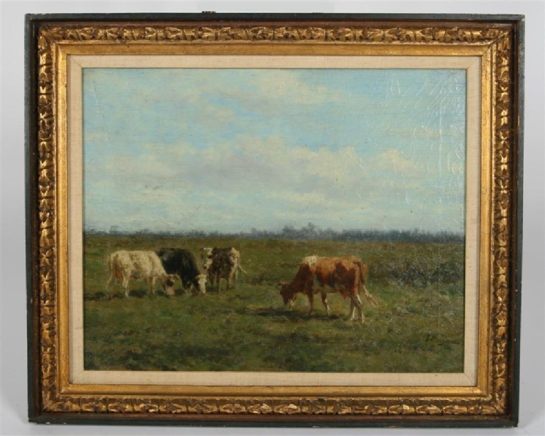 Hermanus Bogman (Dutch), Landscape with Cattle