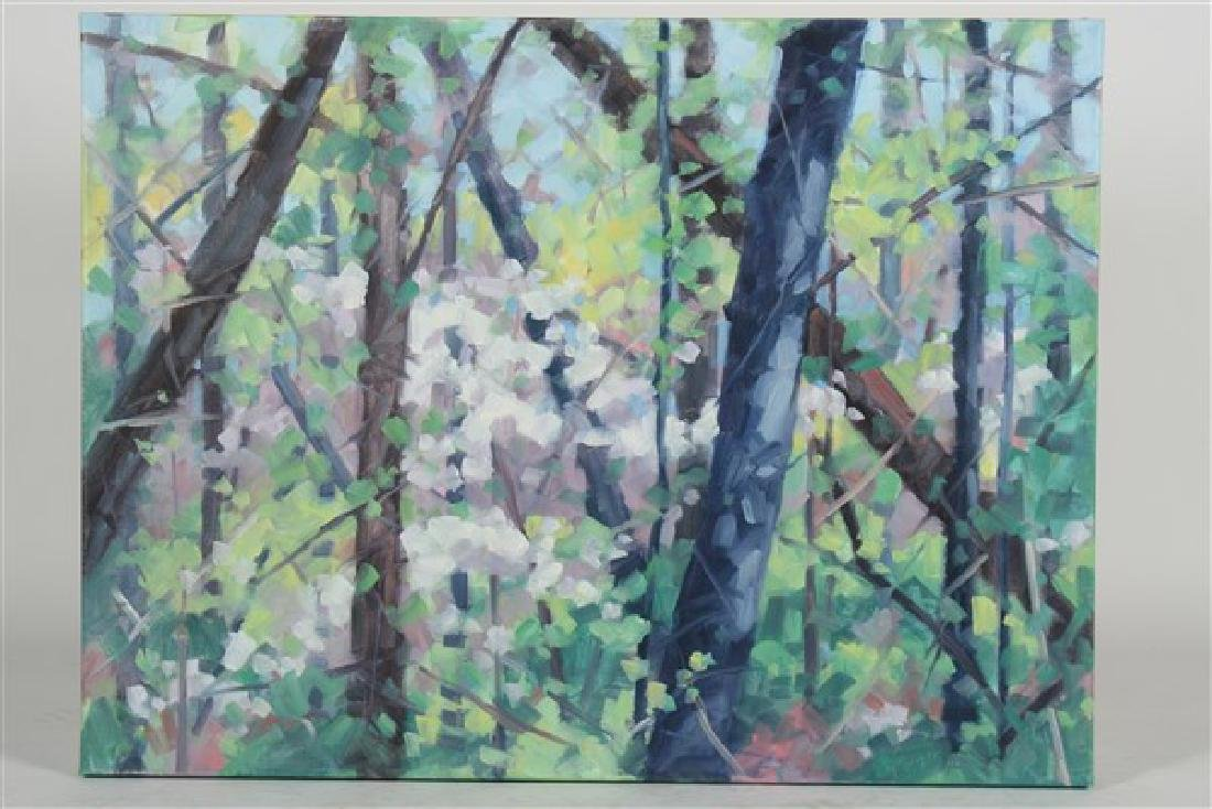 "Linda Stokes (American, b.1939), ""Spring Woods"""