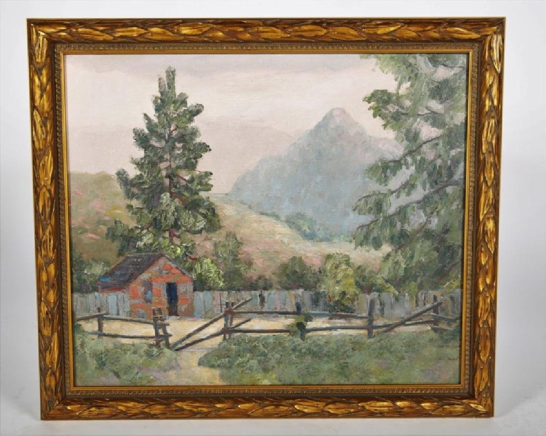 Unsigned Oil on Board Landscape