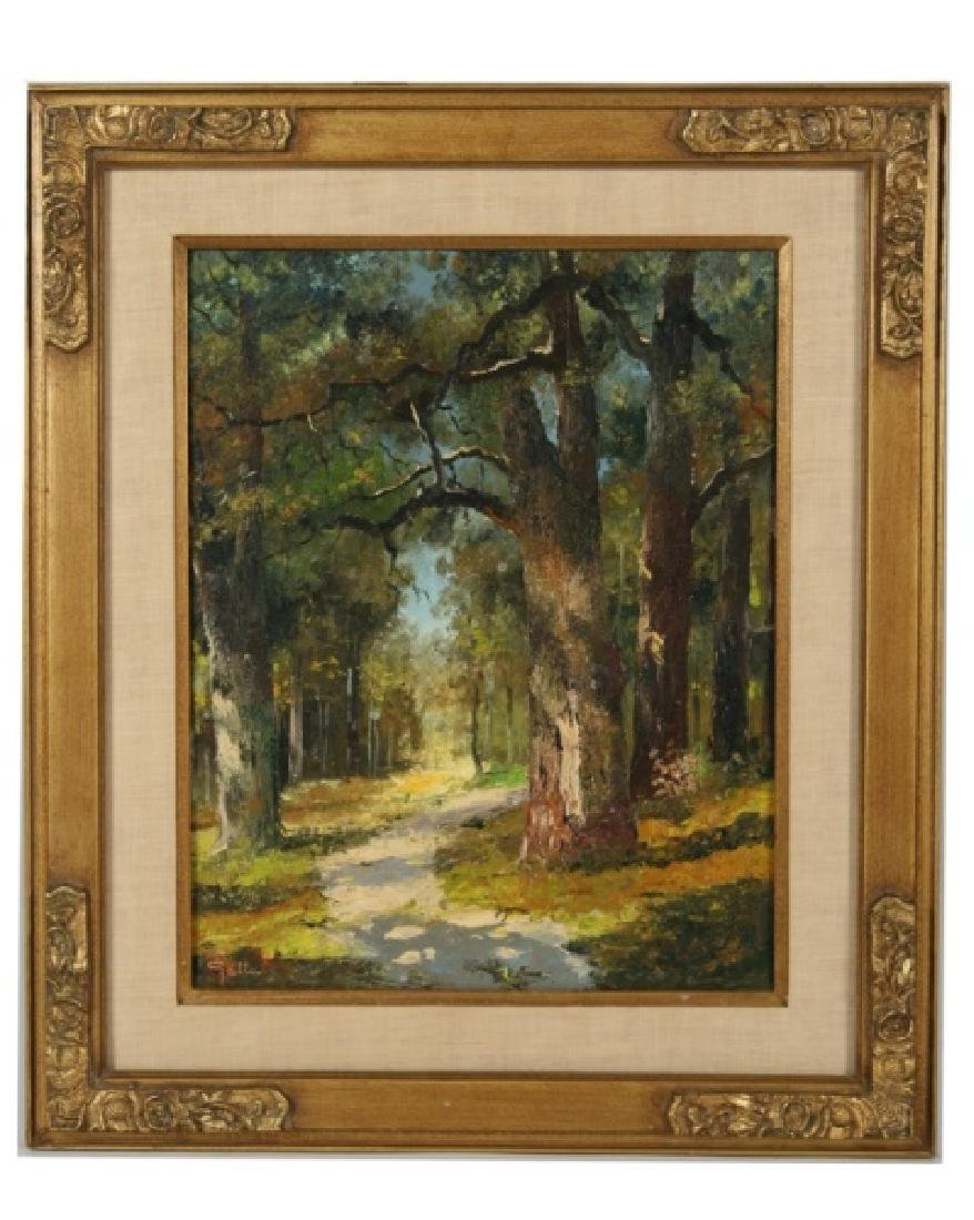 "Signed ""Galla"", Oil on Canvas Landscape"