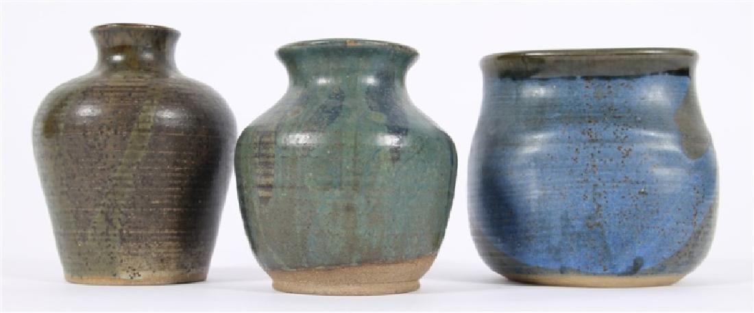 Lot of Three Glazed Ceramic Vessels - 2