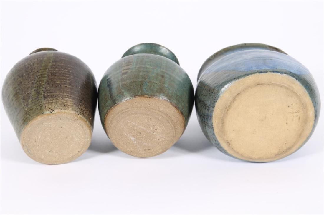 Lot of Three Glazed Ceramic Vessels - 3