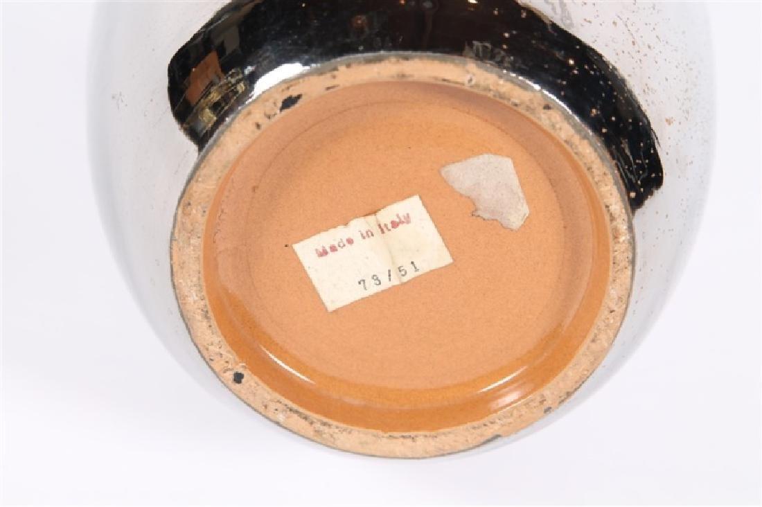 Italian Ceramic Vase with Metallic Glaze - 4