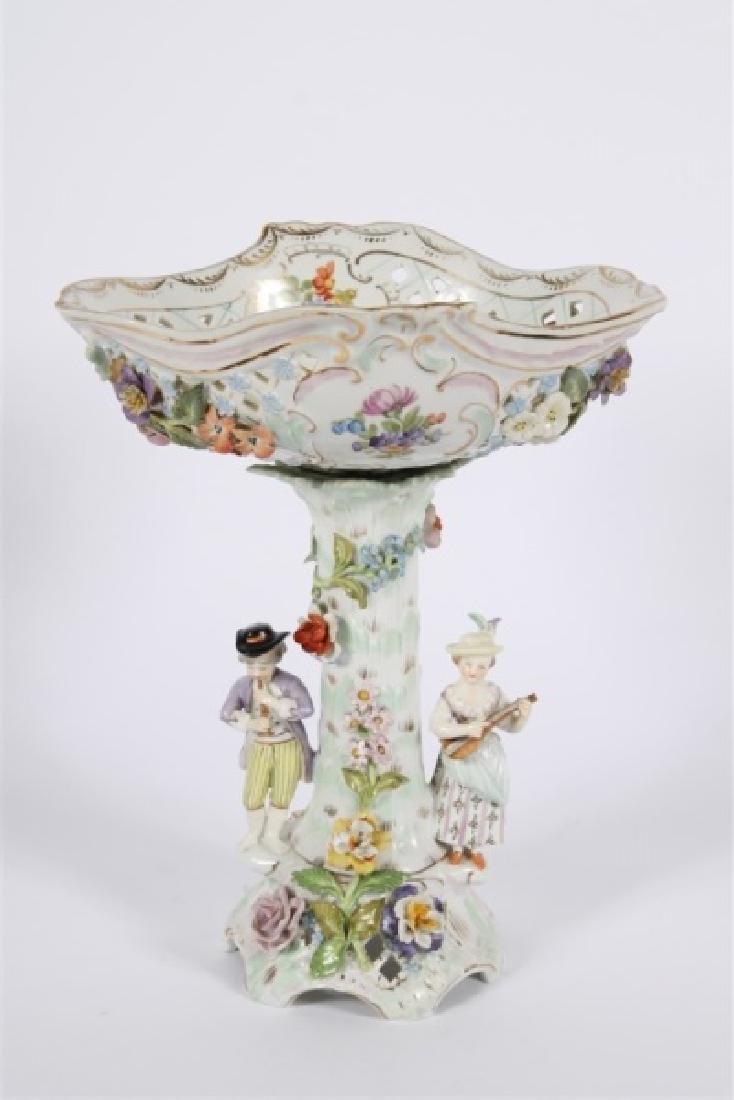 Dresden Porcelain Figural Compote