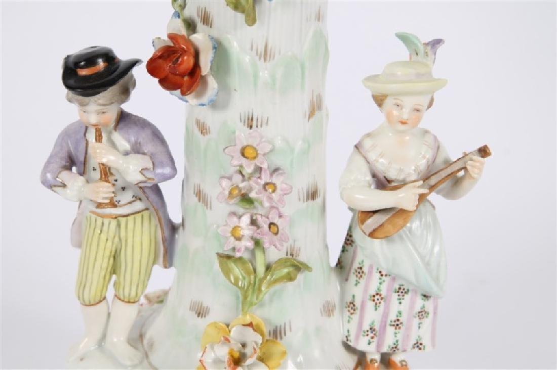 Dresden Porcelain Figural Compote - 2