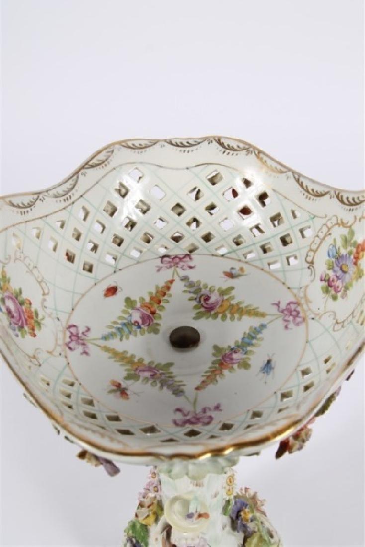 Dresden Porcelain Figural Compote - 4