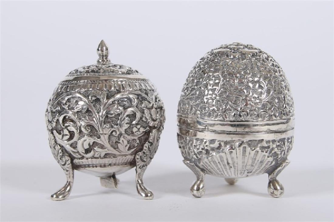 Sterling Silver Footed Salt & Pepper Shaker Set