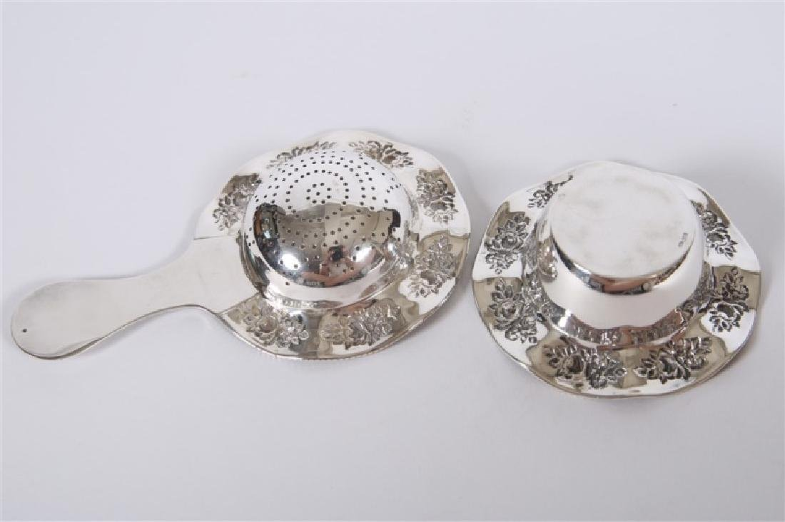 Martin Mayer, Sterling Tea Strainer with Drip Bowl - 3