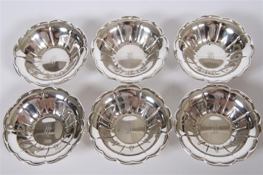 Set of Six Sterling Silver Scalloped Nut Dishes - 3