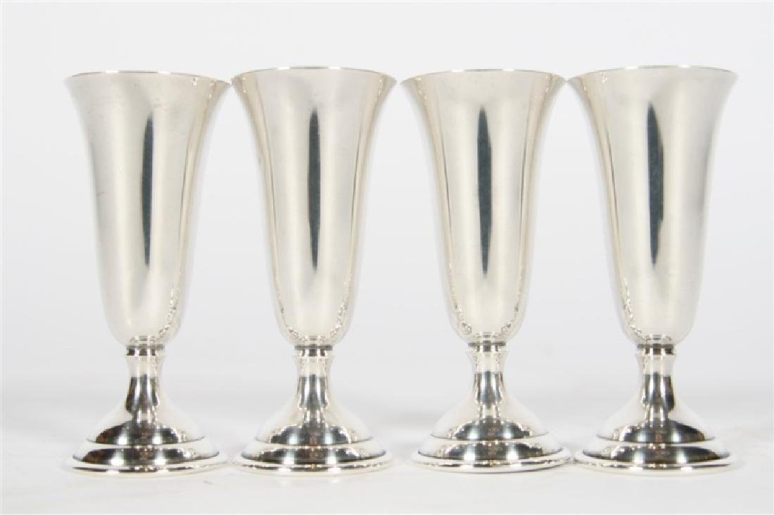 Randahl, Set of Four Sterling Silver Cordials