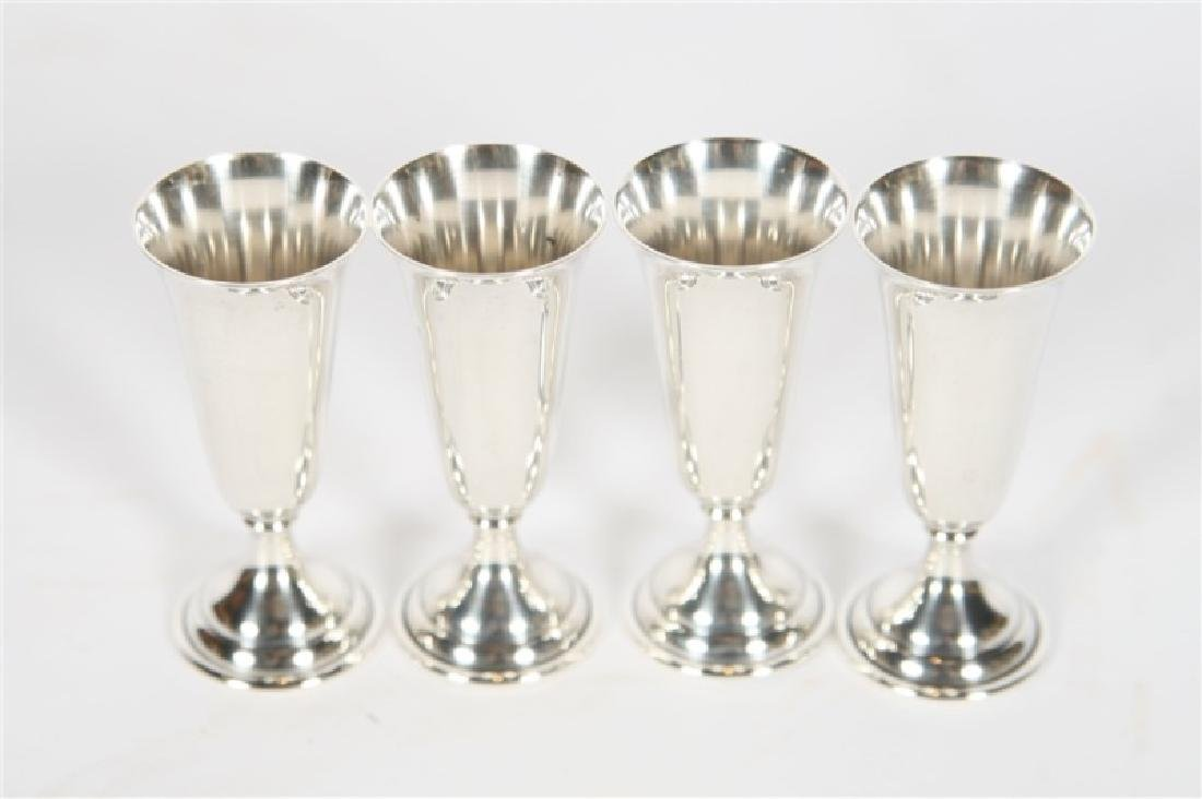 Randahl, Set of Four Sterling Silver Cordials - 2