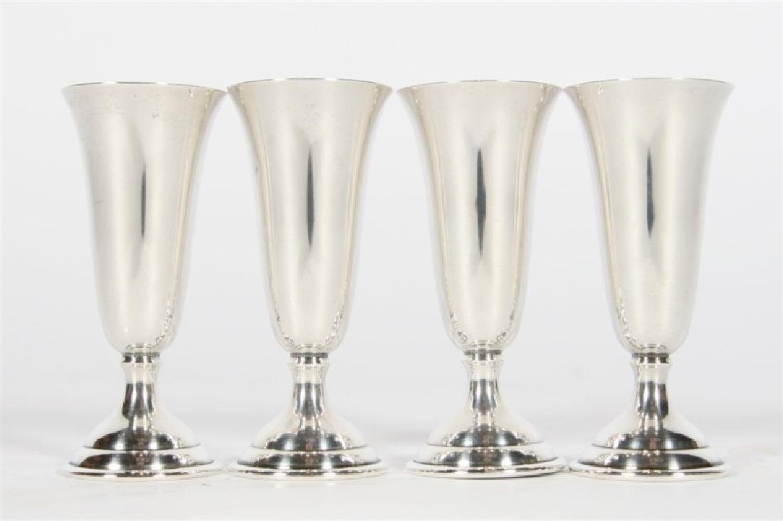 Randahl, Set of Four Sterling Silver Cordials - 4