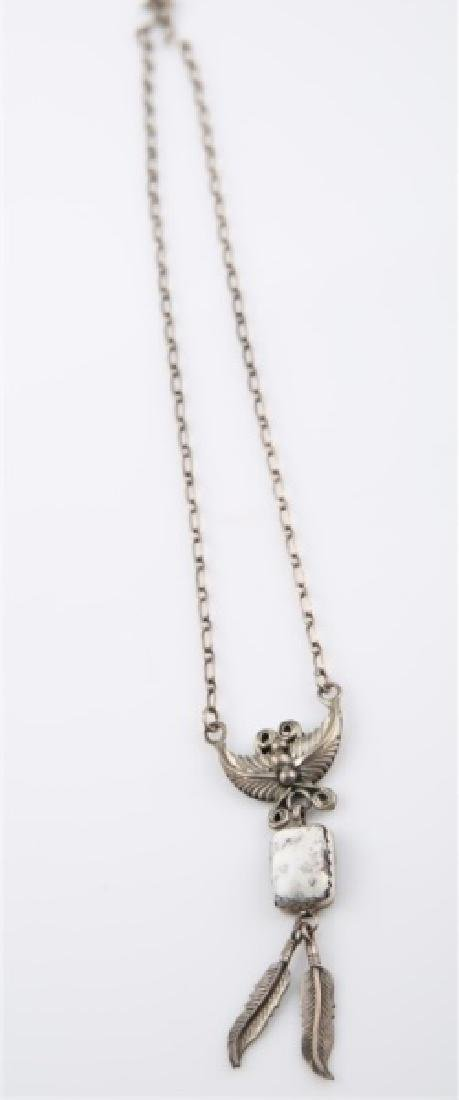 Sterling Silver White Stone Necklace - 2