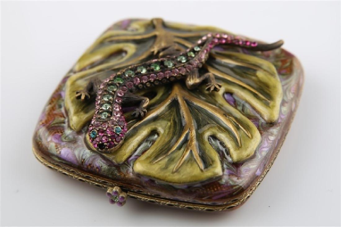 Jay Strongwater, Swarovski Crystal Lizard Compact