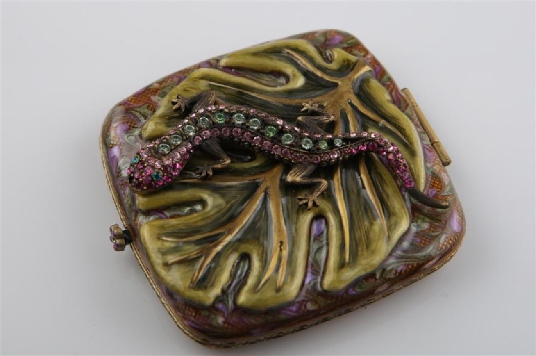 Jay Strongwater, Swarovski Crystal Lizard Compact - 2