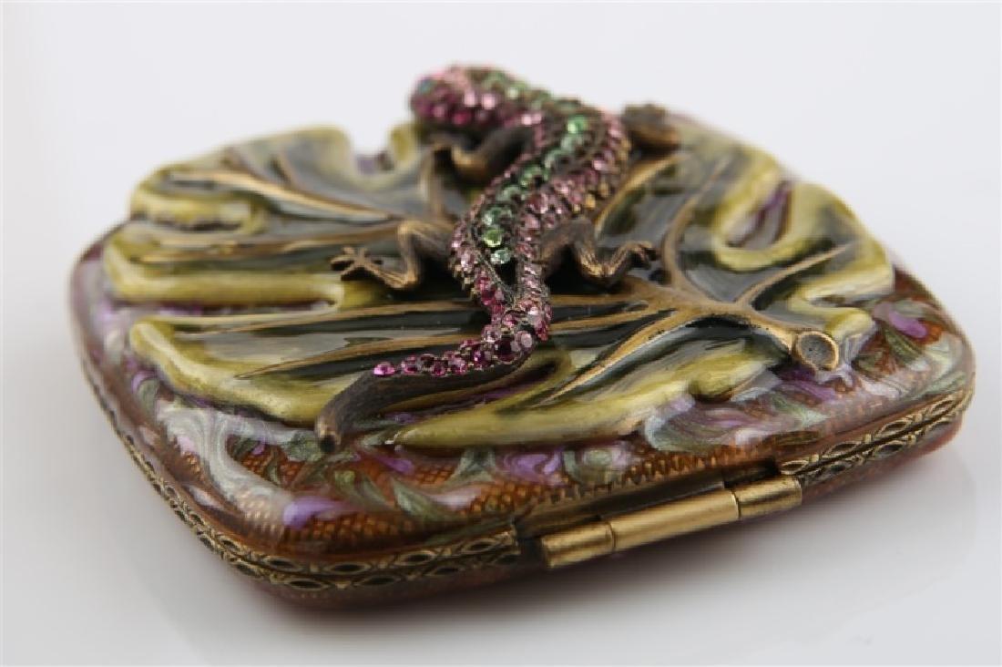 Jay Strongwater, Swarovski Crystal Lizard Compact - 3