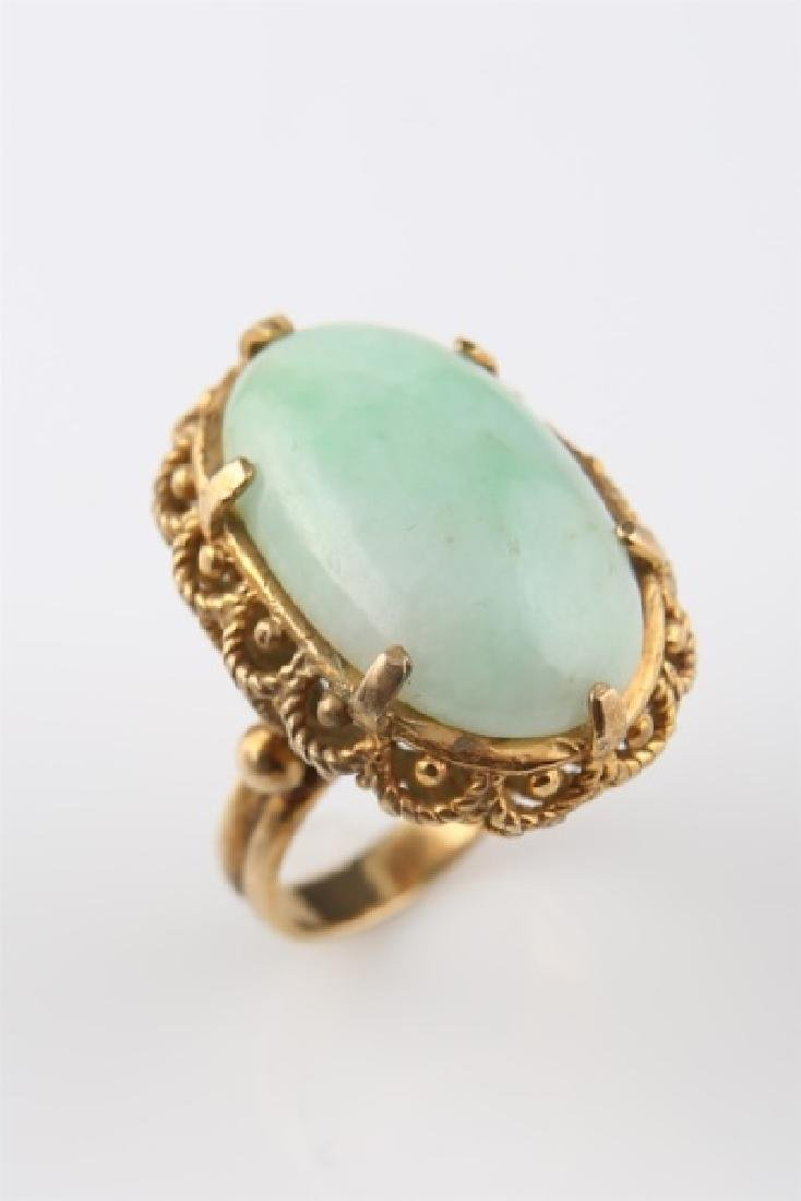 14kt Yellow Gold and Jadeite Ring