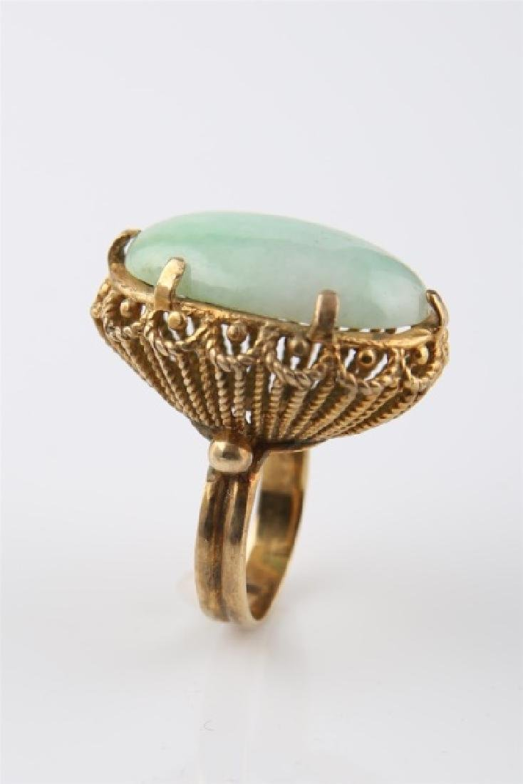 14kt Yellow Gold and Jadeite Ring - 6