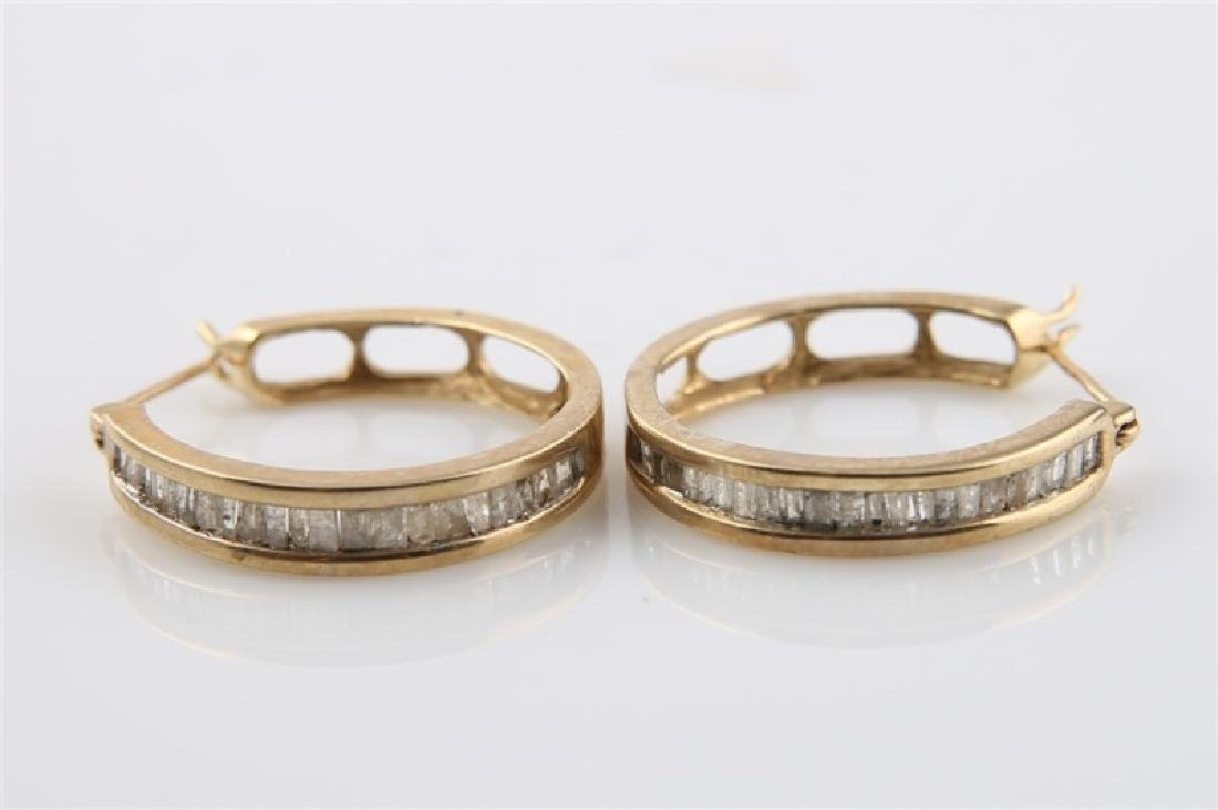 Pair of 10kt Yellow Gold Huggie Earrings