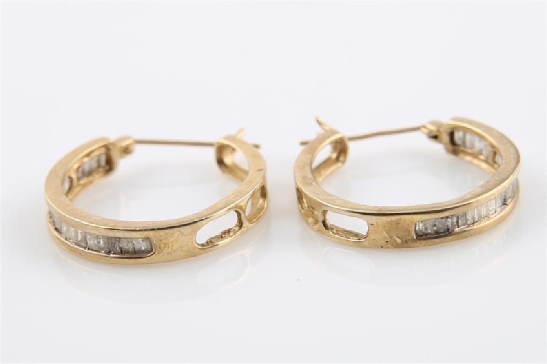 Pair of 10kt Yellow Gold Huggie Earrings - 5