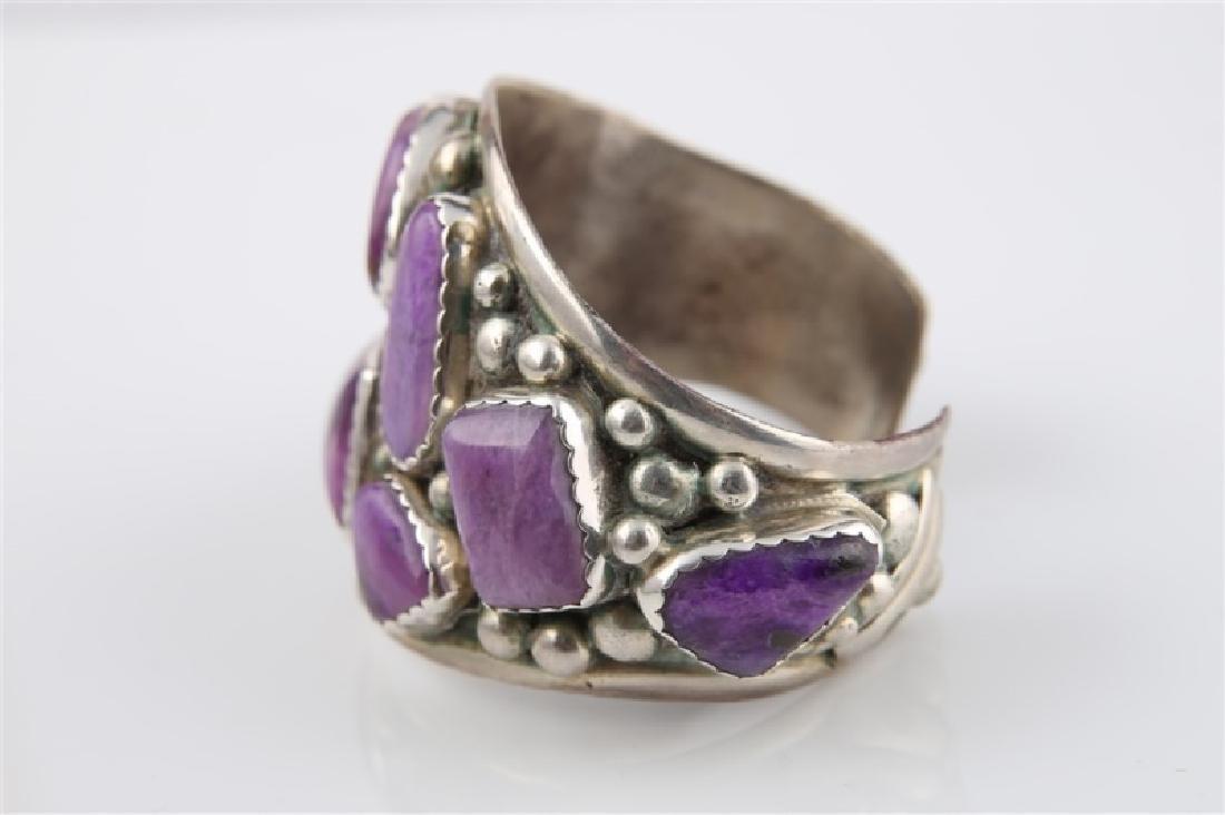 E&C Fierro, Sterling Silver Amethyst Bracelet - 3