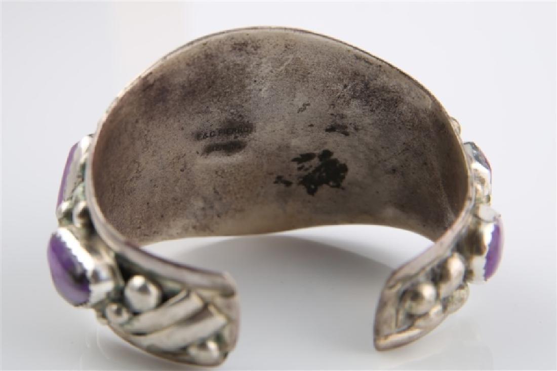 E&C Fierro, Sterling Silver Amethyst Bracelet - 5