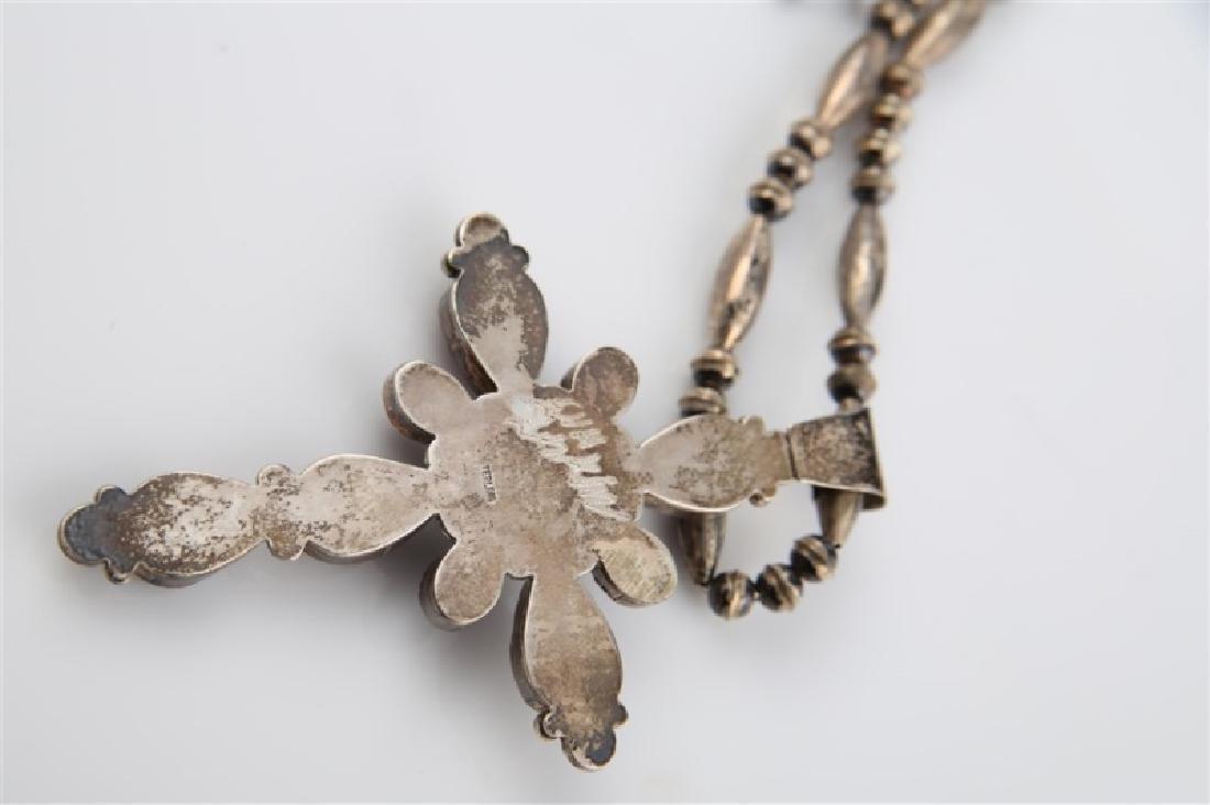 Ella Linkin Sterling Amethyst Cross Necklace - 5