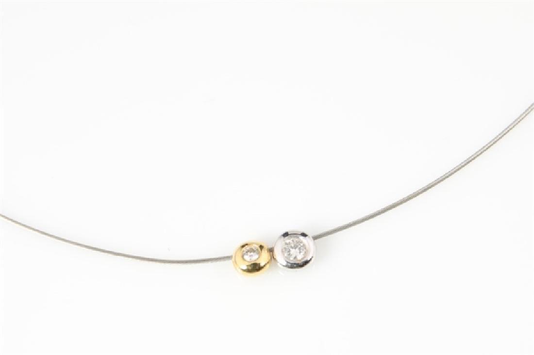 14k Yellow Gold, 14k White Gold, Diamond Necklace