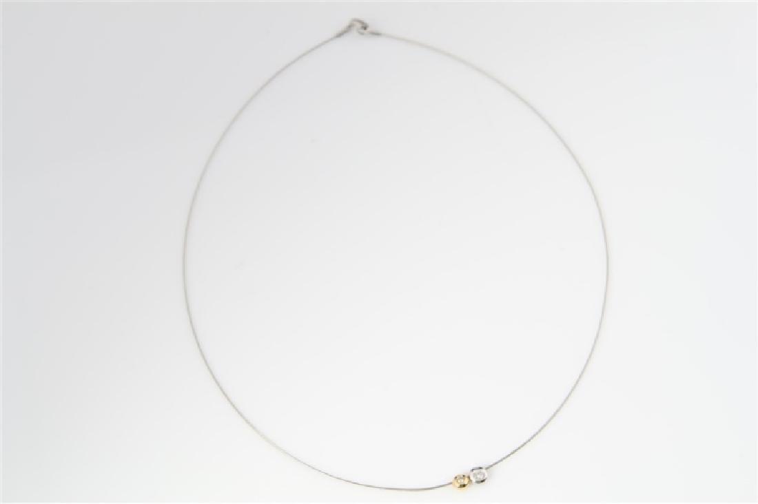 14k Yellow Gold, 14k White Gold, Diamond Necklace - 2