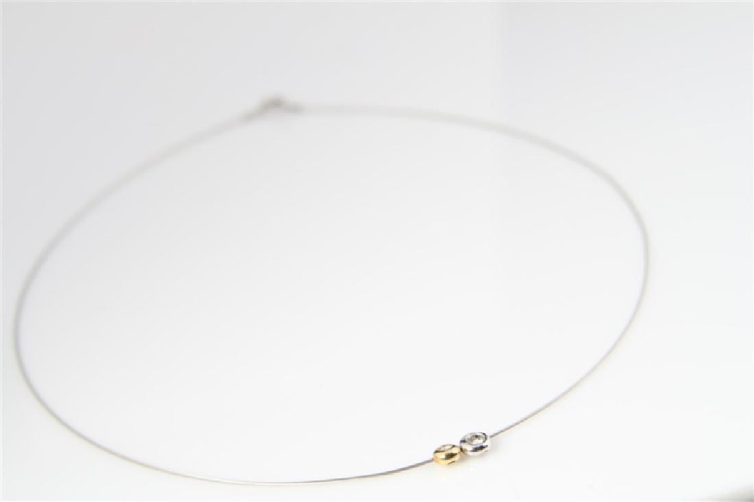 14k Yellow Gold, 14k White Gold, Diamond Necklace - 3