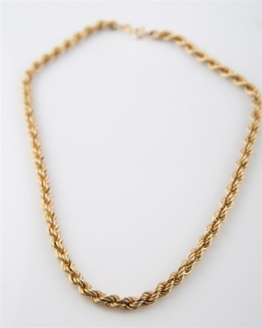14kt Yellow Gold Twist Chain Necklace