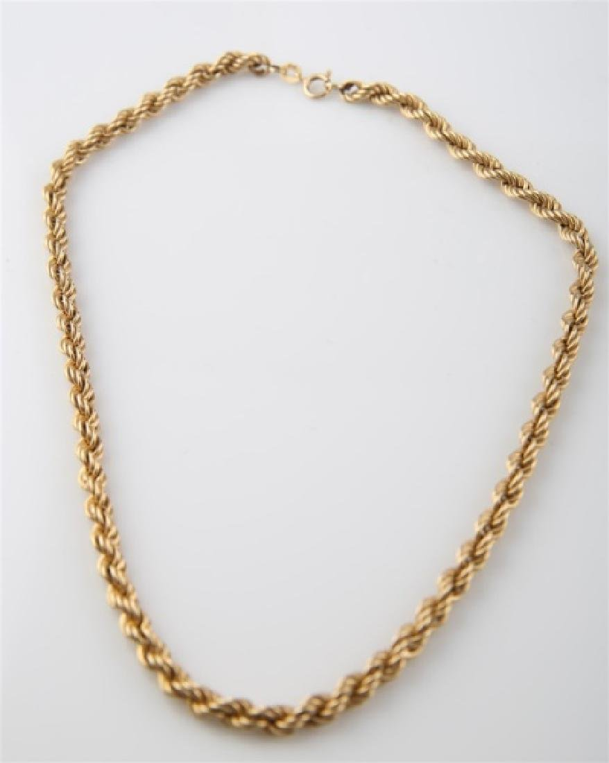 14kt Yellow Gold Twist Chain Necklace - 2