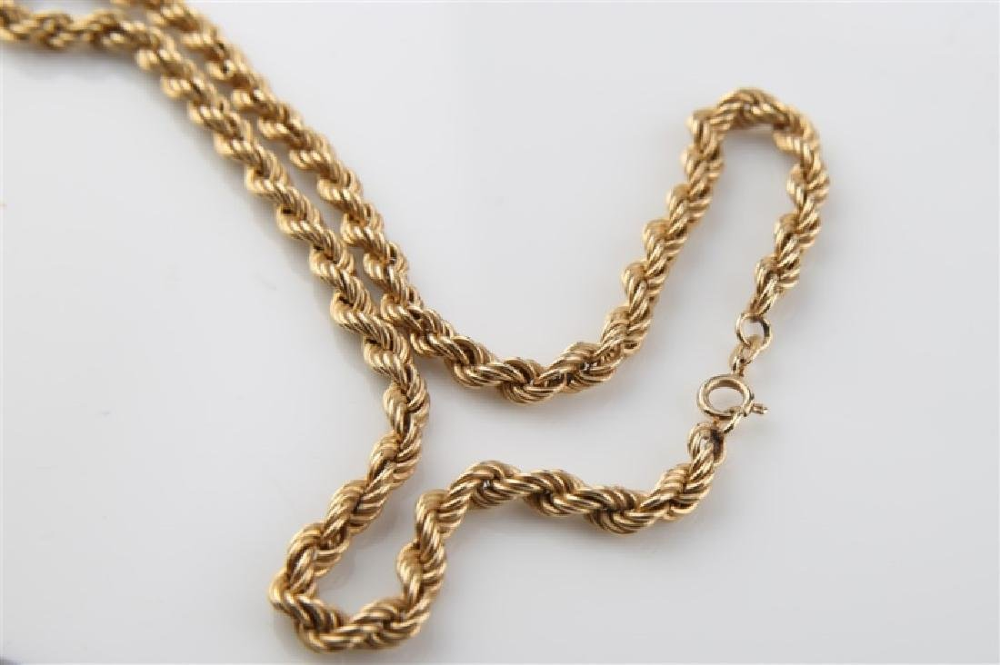 14kt Yellow Gold Twist Chain Necklace - 4