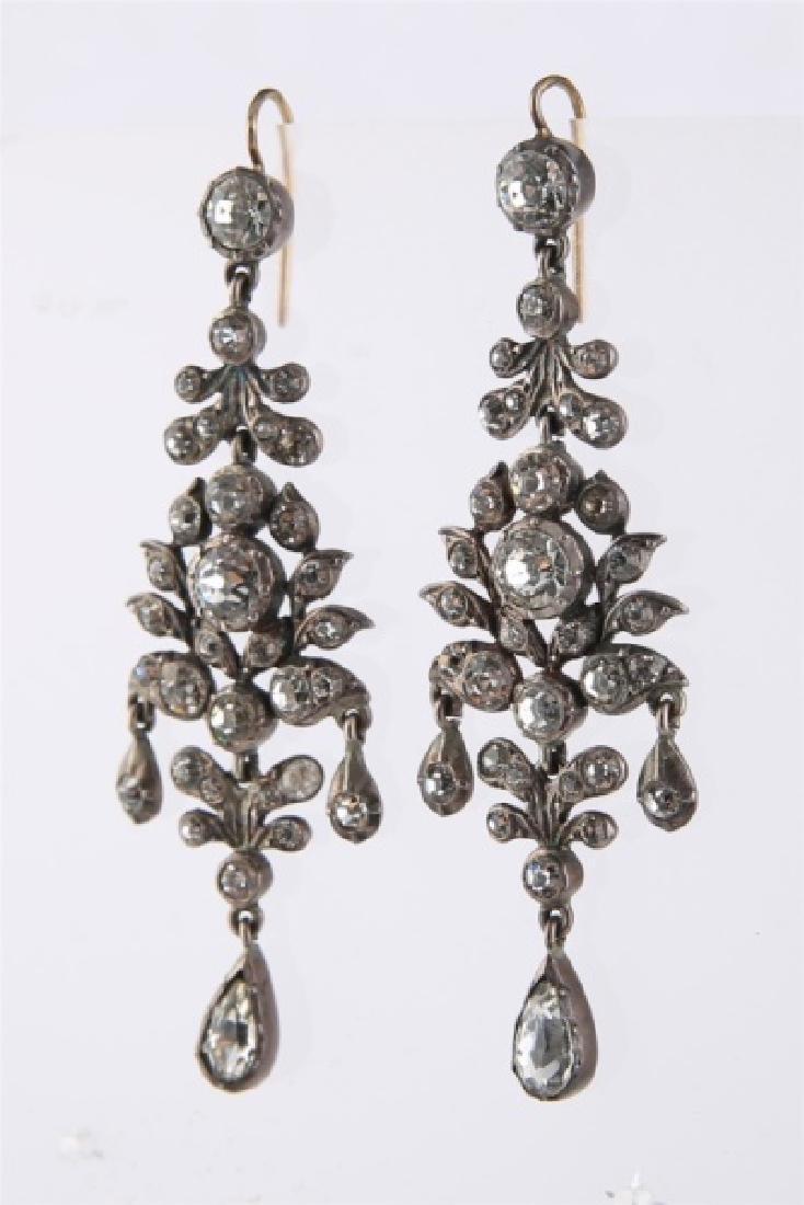 Pair of European 19th Century Dangle Earrings