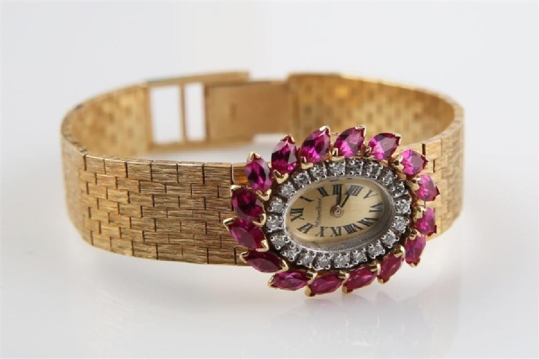 Lucien Piccard (Swiss), 14kt Gold Wrist Watch