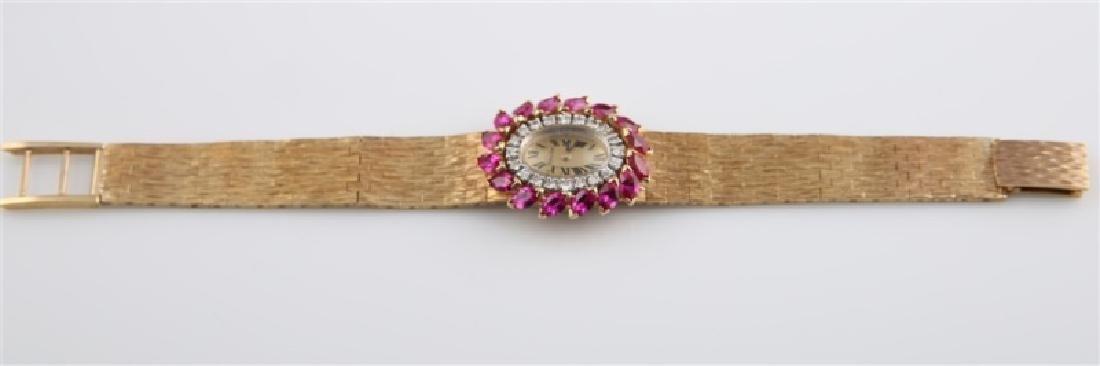 Lucien Piccard (Swiss), 14kt Gold Wrist Watch - 2