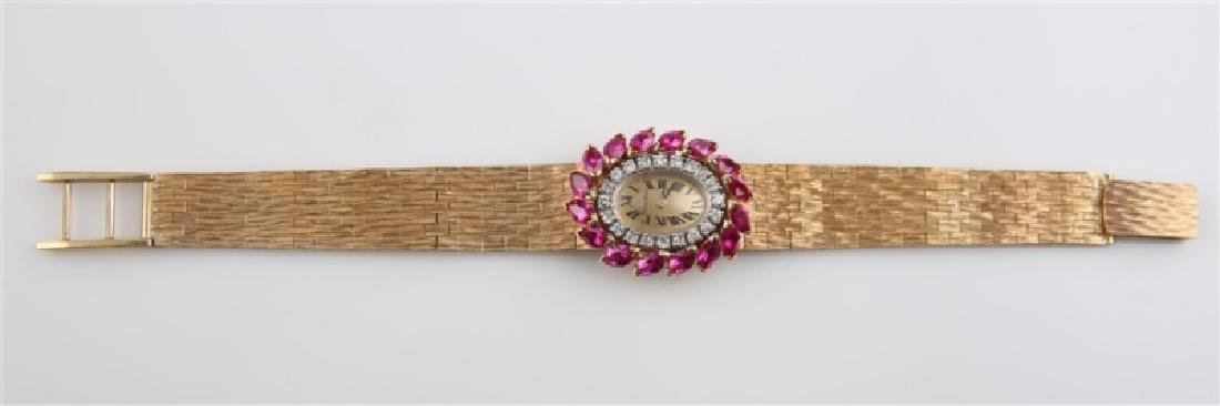 Lucien Piccard (Swiss), 14kt Gold Wrist Watch - 3