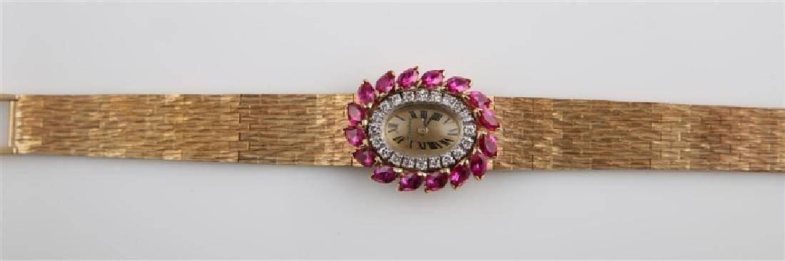 Lucien Piccard (Swiss), 14kt Gold Wrist Watch - 4
