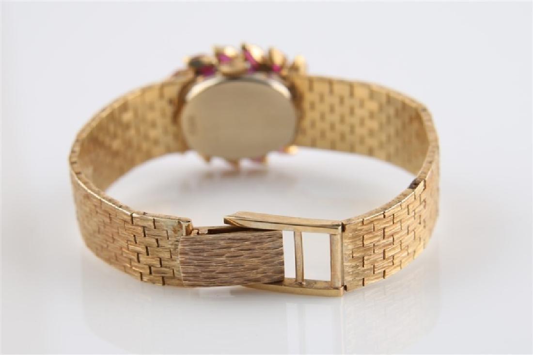 Lucien Piccard (Swiss), 14kt Gold Wrist Watch - 5