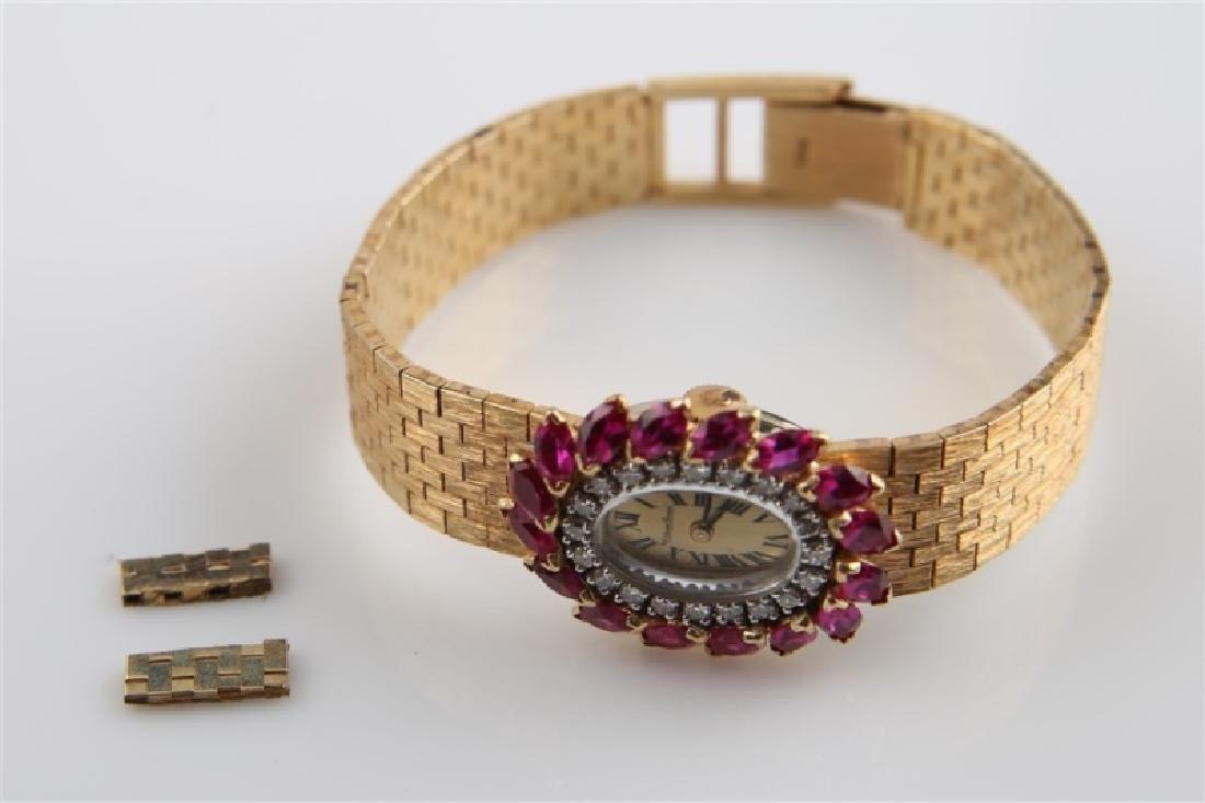 Lucien Piccard (Swiss), 14kt Gold Wrist Watch - 7