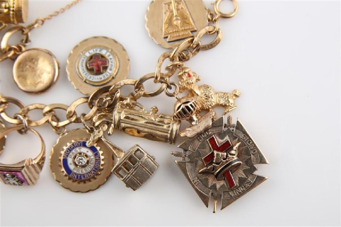 14kt Yellow Gold Lady's Charm Bracelet - 2