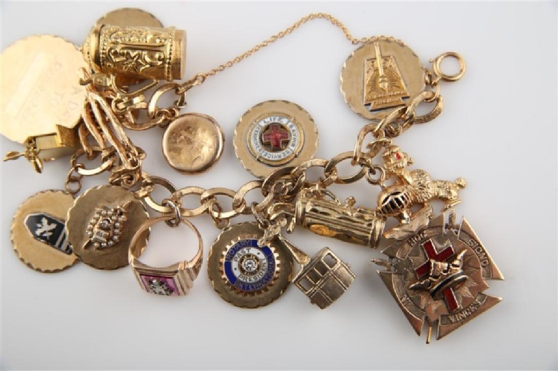 14kt Yellow Gold Lady's Charm Bracelet - 3