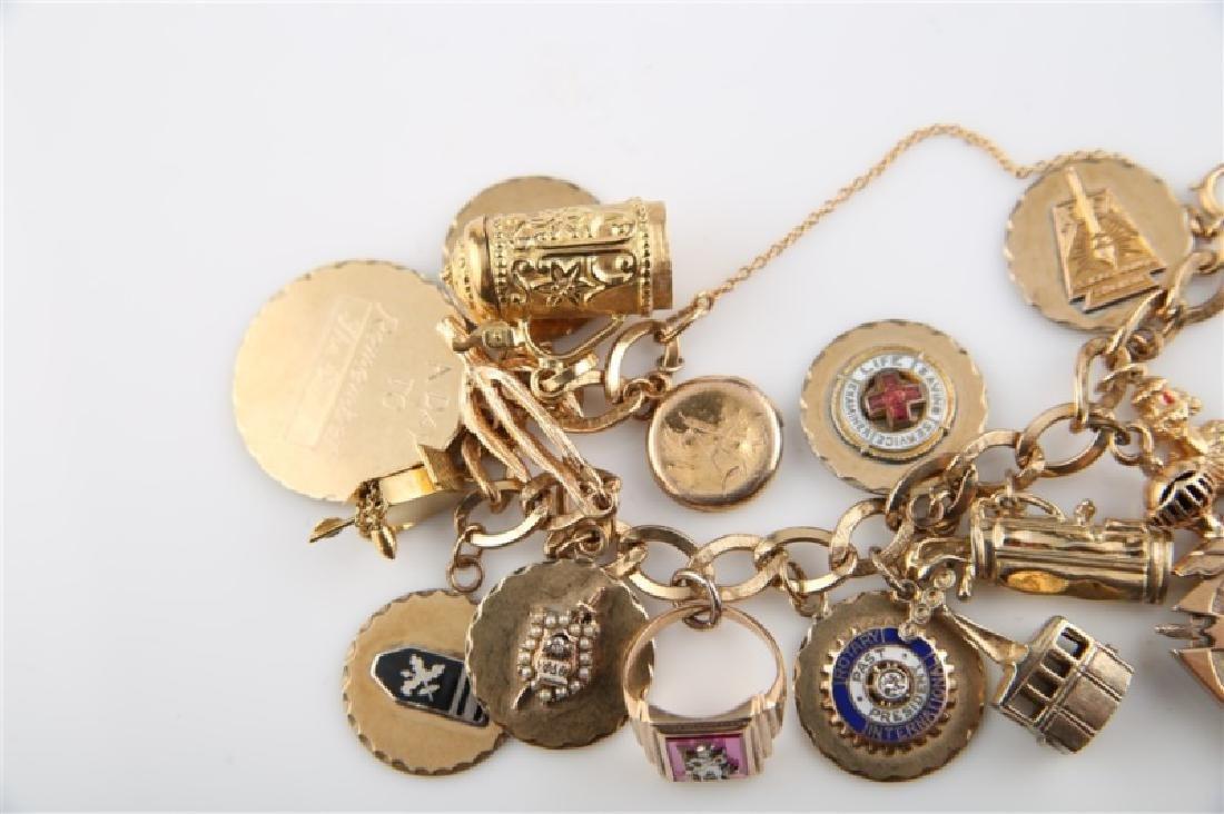 14kt Yellow Gold Lady's Charm Bracelet - 5